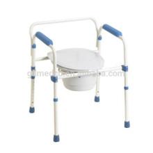 Стальной складной больничный взрослый горшок стул CM002