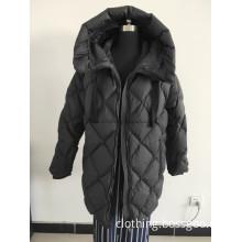 Long Fake Down Coat