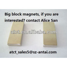 Sintered block magnet,/50x19x6 mm N42 neodymium magnets