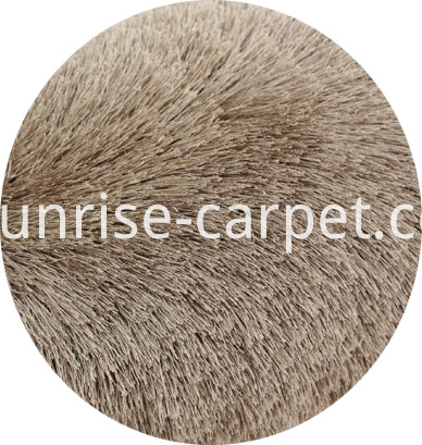 Thin Polyester Shaggy Rug Champagne Color