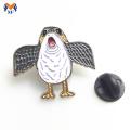 Insignia de pin de metal animal pájaro encantador para niños