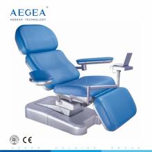 AG-XD101 ingeniero plástico base hospital donación de sangre silla de flebotomía reclinable