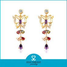 OEM Accepted Premium Silver Earring Jewellery Design (E-0157)