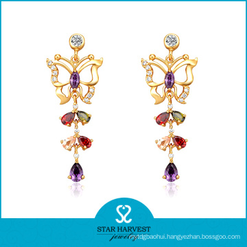 Butterfly Wings Earring Plating with Gold (SH-E0157)