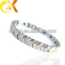 Joyería de moda de bloqueo de acero inoxidable cable de pulsera