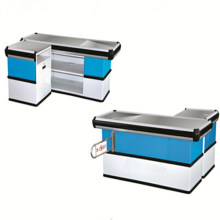 Supermarket Stainless Steel Cashier Table for Sale