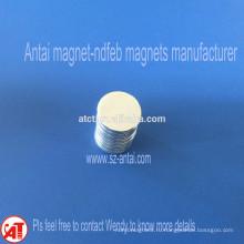 Dia.15x1.5mm N35 цинка покрытие магнитов