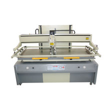 Vertical plane screen printing machine