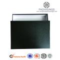 Caixa de vestuário padrão luxo preto Matt Paper
