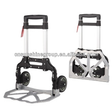 Aluminum storage foldable hand truck trolley.
