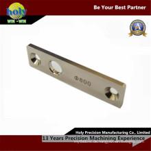Benutzerdefinierte CNC-Bearbeitung Messingschild mit Lasergravur