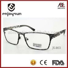 Lunettes de lunette optique en métal à la mode pour hommes