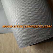 Tela de fibra de vidrio de 0,45 mm recubierta PU para manta ignífuga