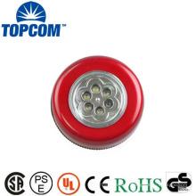 Autocollant 6 lampe tactile à LED colorée à LED