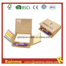Kombiniertes Memo Pad mit 3 Folder Pen und Lineal