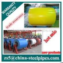 Farbbeschichtete Stahlspulen, Farbbeschichtungsvolumen PPGI für Dachdeckerbau Versorgung jeder RAL-Farbe