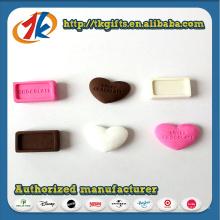 Nouveau jouet drôle de gomme au chocolat en forme de coeur