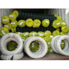 PVC de barrière de lien de chaîne enduit / clôture galvanisée de lien de chaîne