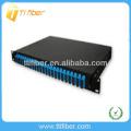 24 puertos Panel de conexión deslizante de montaje en rack de 19 '(caja de fibra óptica)