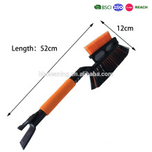 double brushes telescopic car snow brush with ice scraper