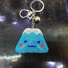 अजीब चमड़े मखमल स्फटिक प्यारा Fujiyama चाबी का गुच्छा/आकर्षण