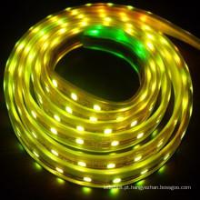 Cor amarela RGB levou tira RGB flexível levou tira tira longa vida tempo