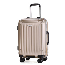Cheap ABS luggage trolley suitcase for 2018
