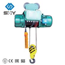 Alzamiento eléctrico de la cuerda de alambre con la carretilla del monorrail