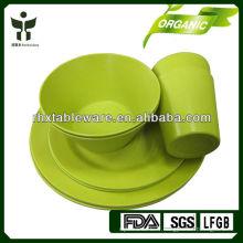 Ensembles de vaisselle biodégradables et écologiques pour bambous