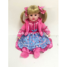 "16"" Rose Red Dress Stand Vinyl Doll"
