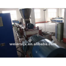 Parallel twin screw WPC pelletizing line