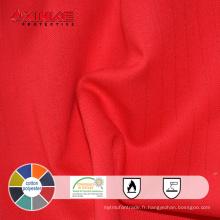 CVC 60% coton et 40% polyester haute résistance Tissu ignifuge