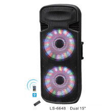 Supper Power Dual 15 Inch Portable Speaker with Bluetooth