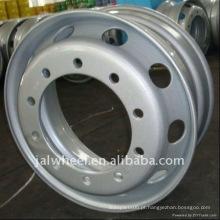 10 buracos de aço de prata da roda da roda da jante