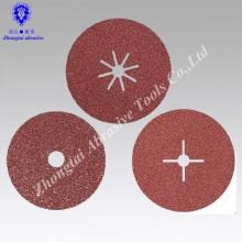 "4 ""* 5/8"" P24 interflex marca disco de fibra abrasiva para moagem e polimento"