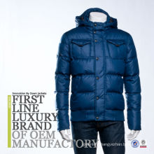 First Luxury Brand Men Down Jacket Bomber Clothing Made In Shaoxing China