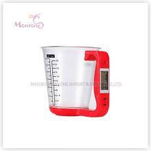 Escala eletrônica do copo de medição da cozinha 1kg (16 * 12.5 * 13.6cm)