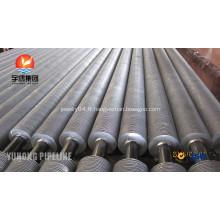 SA179 Tubes à ailettes en acier hélicoïdal d'acier au carbone pour échangeur de chaleur