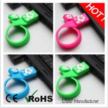 Новый дизайн резиновых Wristband USB Stick