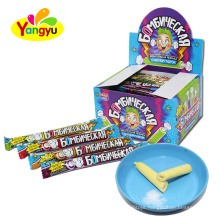Strong Sour Powder Candy Filled with Stick Chewing Gum