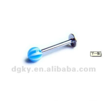 Bunte Plastikkugeln und Stahlstabgewohnheit labret piercing Körperschmuck Piercing