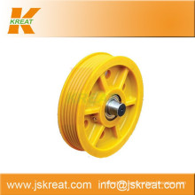 Elevator Parts|Elevator Nylon Deflector Sheave Manufacturer|wire rope sheaves pulley