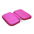 New design small hard bling leather cosmetic cases with custom logo