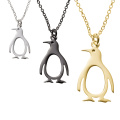 Collar de acero inoxidable colgante de pingüino lindo alto polaco
