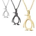 Высокая Польский Милый Пингвин Кулон Ожерелье Из Нержавеющей Стали