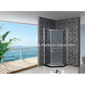 Chão de vidro temperado com chuveiro simples (AS-940 sem bandeja)