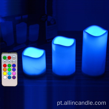 Magic Remote Control LED velas com botão
