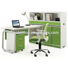 Комбинированный стол для офисного дизайна, Красивый жемчужный белый + зеленый попугай, Дизайн мебели для офисных столов (JO-5009-2)