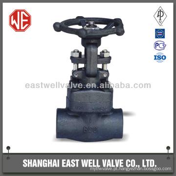 Válvula de porta em cunha de aço forjado