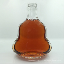 700ml garrafa de conhaque vazio com tampão de alumínio Decanter de vidro